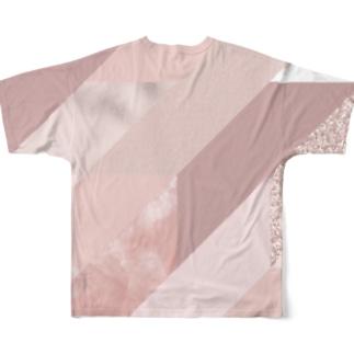 異素材モード系PINK。 Full graphic T-shirts