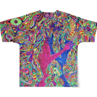 dual nature Full graphic T-shirts