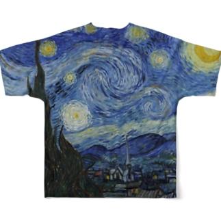 ゴッホ 星月夜 Full graphic T-shirts