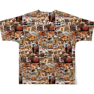 みんな大好き!焼きまんじゅう Full graphic T-shirts