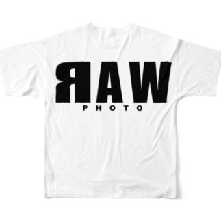 RAW黒 Full graphic T-shirts