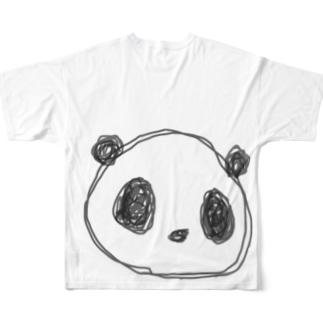 パンダ▼リクエストイラスト▼ Full graphic T-shirts
