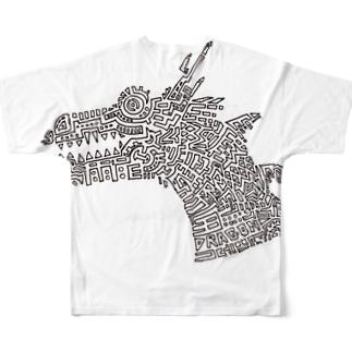 51-86のDRAGON Full graphic T-shirts