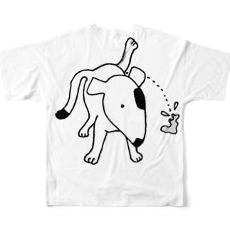 のんぼうLINEスタンプのオシッコ Full graphic T-shirts