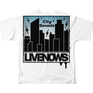 LIVENOWS - City Sounds Full graphic T-shirts