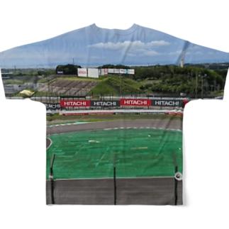 サーキットと一体化できるTシャツ 鈴鹿Qスタンドの景色 Full graphic T-shirts