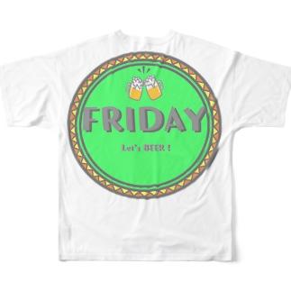 華金BEER Full graphic T-shirts