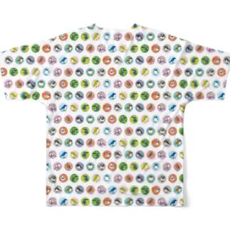 ことりのドット柄 Full graphic T-shirts