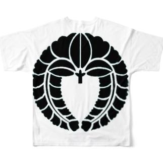 下がり藤 Full graphic T-shirts