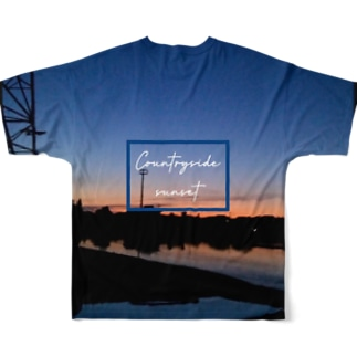 Countryside sunset 〜田舎の夕焼け〜 Full graphic T-shirts