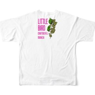 CRAFTBEER&OBANZAI LITTLE BIRD Full graphic T-shirts