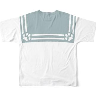 足跡セーラープリント Full Graphic T-Shirt