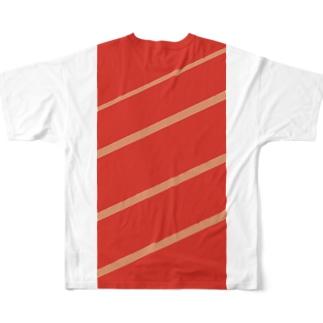 マグロのお寿司になろう Full graphic T-shirts