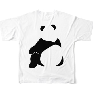 パンダ(せなか)バックプリントTシャツ Full graphic T-shirts