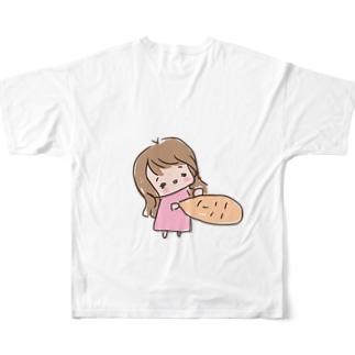 顔拾いました Full graphic T-shirts