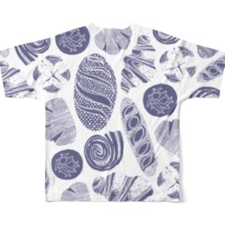 I Love Bread (Blue) Full Graphic T-Shirt
