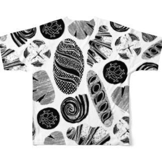 I Love Bread (Black) Full Graphic T-Shirt