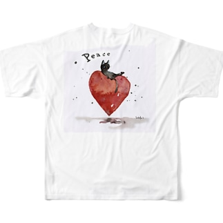 Peace cat Full graphic T-shirts