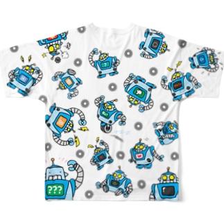 レトロボット Full graphic T-shirts