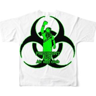 PRESIDENT 326 Air soft club Full graphic T-shirts
