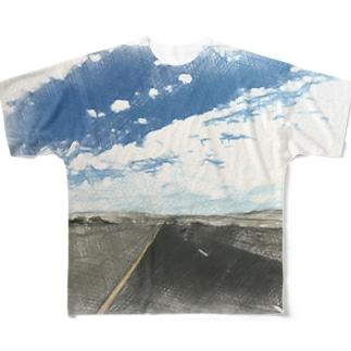 死ぬまで続く Full graphic T-shirts