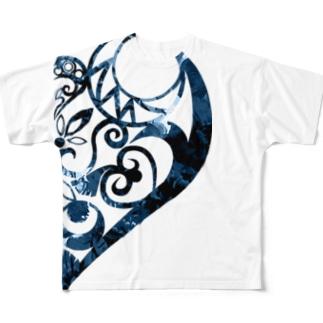 欠損少女青 Full graphic T-shirts