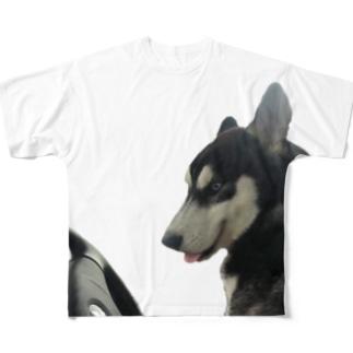運転手はハスキー?! Full Graphic T-Shirt