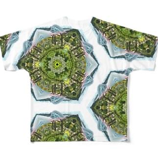 憧れのマリーナベイサンズからの景色(昼) Full graphic T-shirts