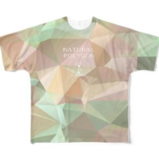 自然のポリゴン Full graphic T-shirts