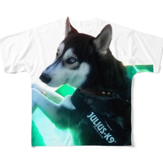 船乗りハスキー Full graphic T-shirts