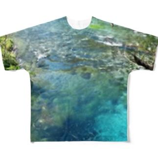 syri i kaltër(シリカルタ)川3-字無しtype- Full graphic T-shirts
