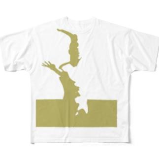 歪な石膏シリーズ・黄土色 Full graphic T-shirts