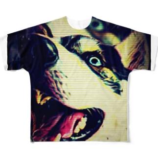 ダーティー ハスキー Full graphic T-shirts