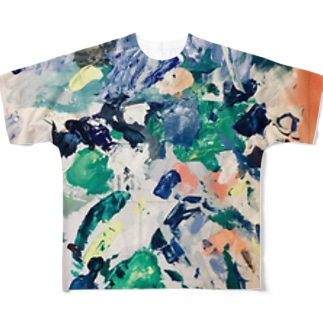 絵の具パレット Full graphic T-shirts