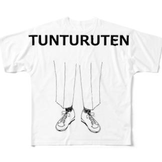 ユーモアデザイン「つんつるてん」 Full graphic T-shirts