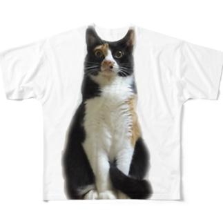 しゃくれムギー Full graphic T-shirts