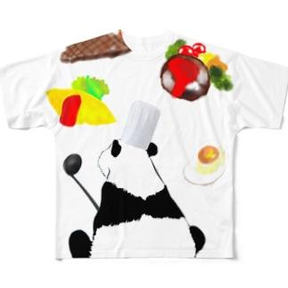 料理人パンダ Full graphic T-shirts