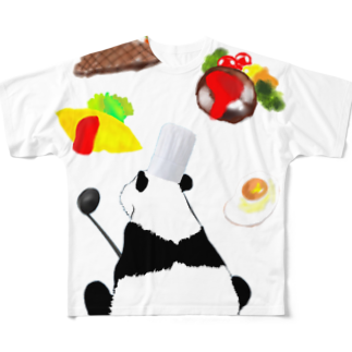 KaNaN〜パンダの料理人パンダ Full graphic T-shirts