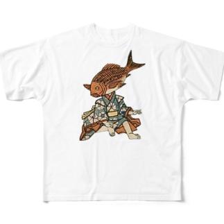 お魚さん Full graphic T-shirts