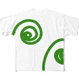 わらび Full graphic T-shirts