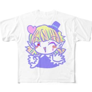【おちゃめな天使と過保護な悪魔】ソネット Full graphic T-shirts