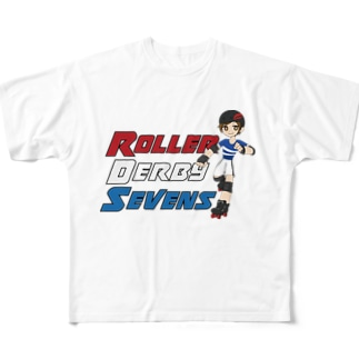 Roller Derby Sevens (Nanasuke) Full graphic T-shirts