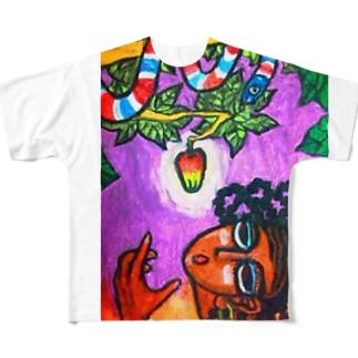 知恵の実 Full graphic T-shirts