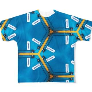 海外の電車。初めての予約 Full graphic T-shirts