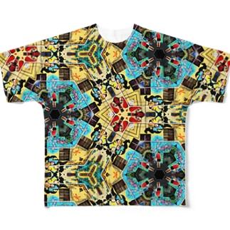 ストリートアートとミキ Full graphic T-shirts