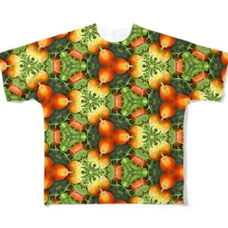 ファームステイ先の、美味しいトマトだよ!多分ね! Full graphic T-shirts