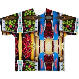 出荷前!おいし!おいしいフルーツだよ! Full graphic T-shirts