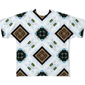 ヒマ人の画面 Full graphic T-shirts