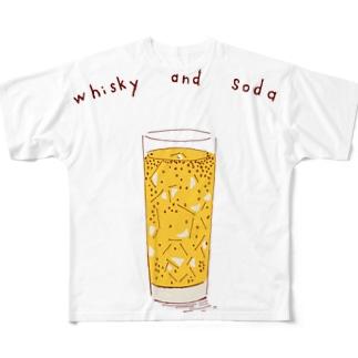 NIKORASU GOのハイボール好き専用デザイン Full graphic T-shirts