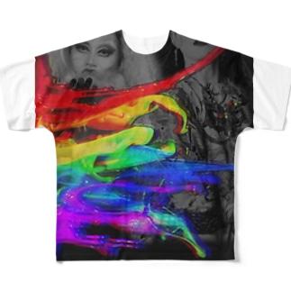 泣いた Full graphic T-shirts